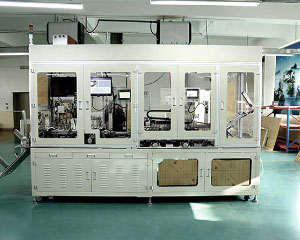 Network transformer testing and packaging machine